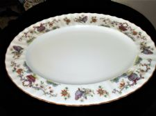 "ELEGANT OVAL PLATTER 13.75"" ROYAL WORCESTER PEKIN EXCELLENT UNUSED COND"